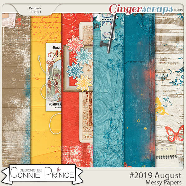 #2019 August - Messy Papers by Connie Prince