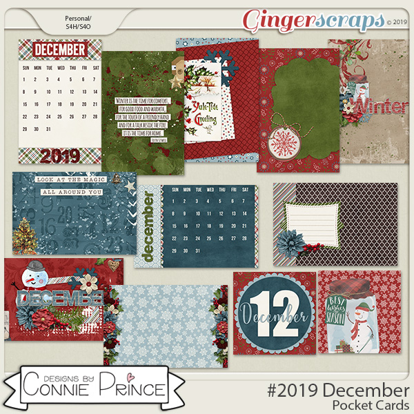 #2019 December - Pocket Cards by Connie Prince