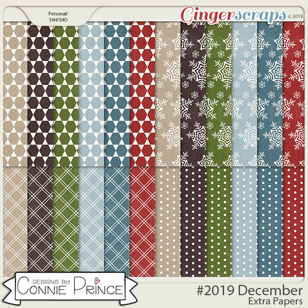 #2019 December - Extra Papers by Connie Prince
