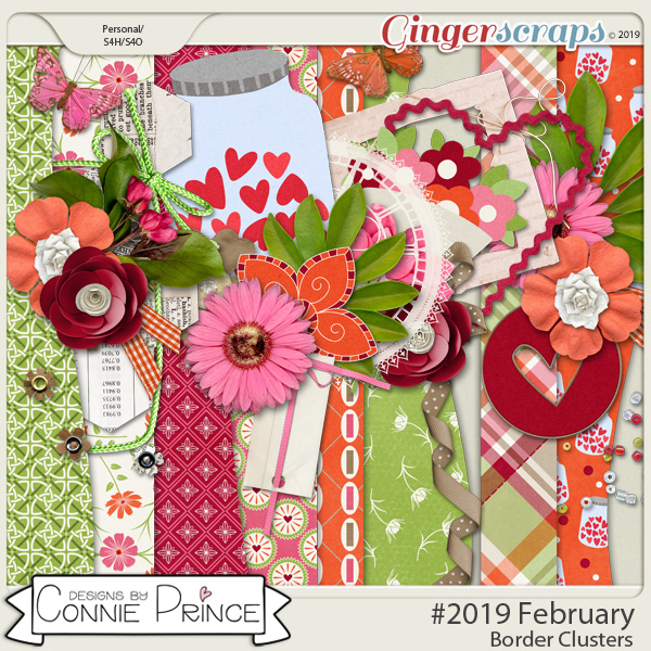#2019 February - Border Clusters by Connie Prince