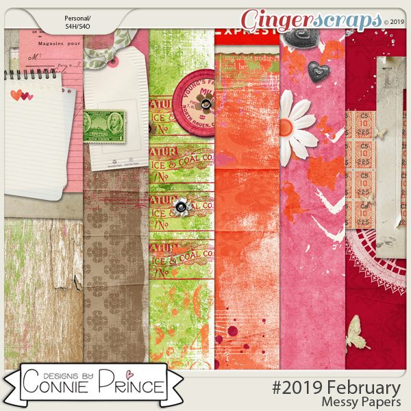 #2019 February - Messy Papers by Connie Prince