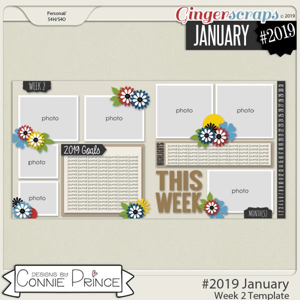 #2019 January - Week 2 Template Pack (CU Ok) by Connie Prince