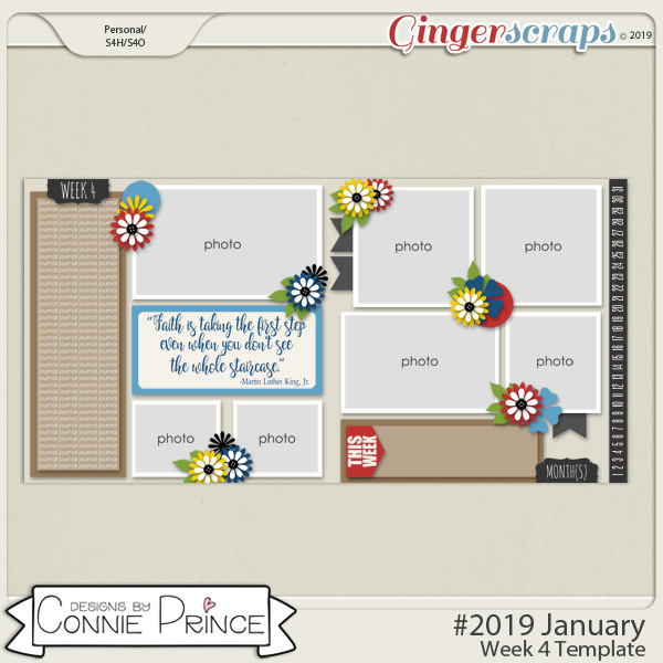 #2019 January - Week 4 Template Pack (CU Ok) by Connie Prince