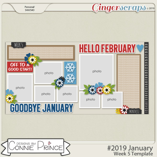 #2019 January - Week 5 Template Pack (CU Ok) by Connie Prince
