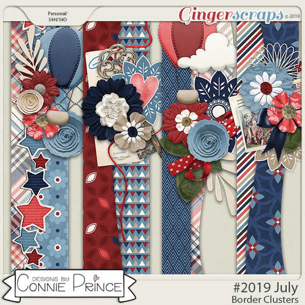 #2019 July - Border Clusters by Connie Prince