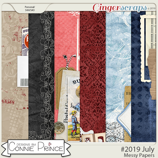 #2019 July - Messy Papers by Connie Prince