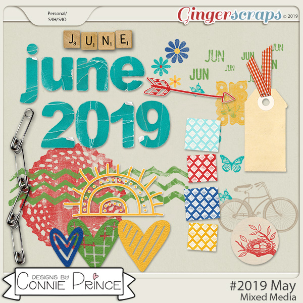 #2019 June - Mixed Media by Connie Prince