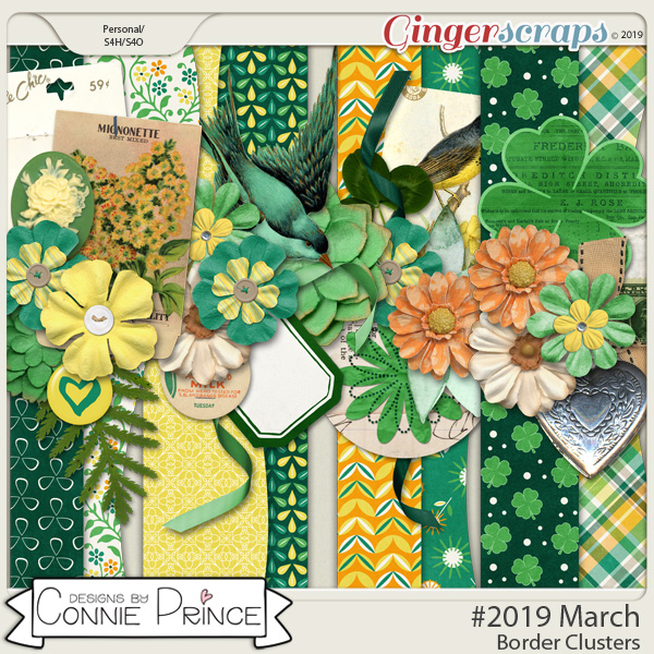 #2019 March - Border Clusters by Connie Prince