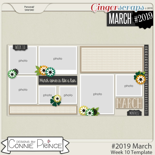 #2019 March - Week 10 Template Pack (CU Ok) by Connie Prince
