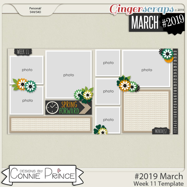 #2019 March - Week 11 Template Pack (CU Ok) by Connie Prince