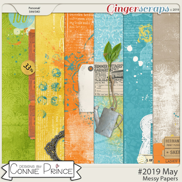 #2019 May - Messy Papers by Connie Prince