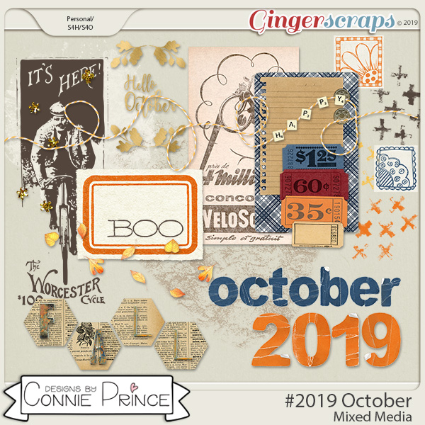 #2019 October - Mixed Media by Connie Prince