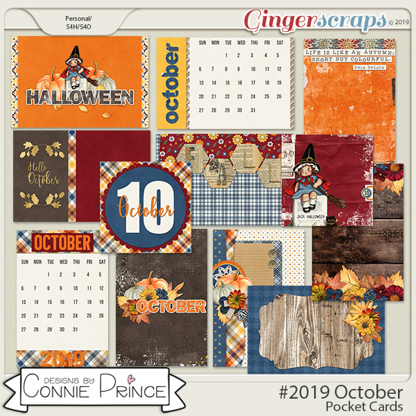 #2019 October - Pocket Cards by Connie Prince
