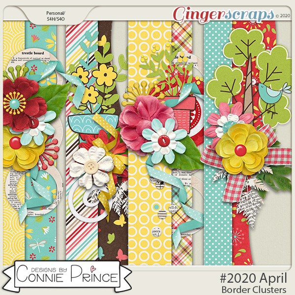 #2020 April - Border Clusters by Connie Prince