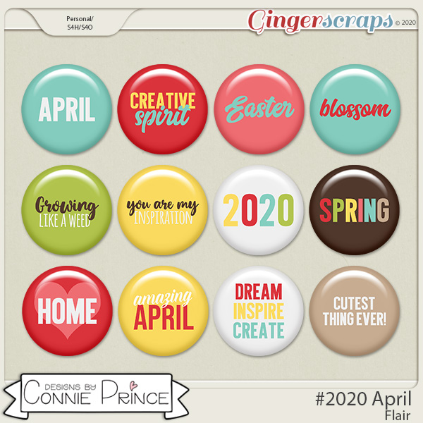 #2020 April - Flair Pack by Connie Prince