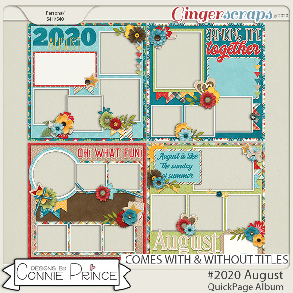 #2020 August - Quick Pages by Connie Prince