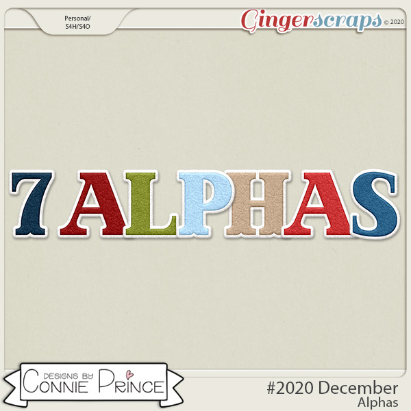 #2020 December - Alpha Pack AddOn by Connie Prince