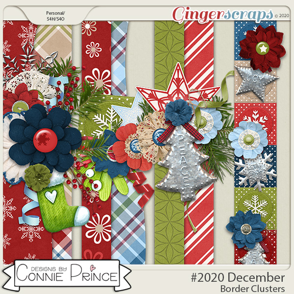 #2020 December - Border Clusters by Connie Prince