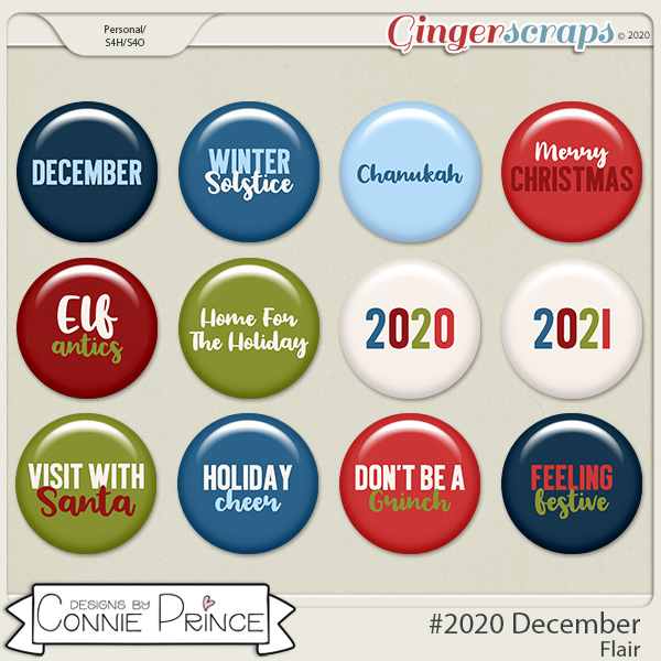 #2020 December - Flair Pack by Connie Prince