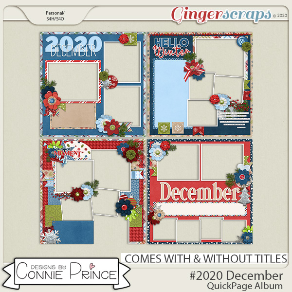 #2020 December - Quick Pages by Connie Prince