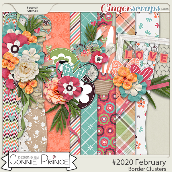 #2020 February - Border Clusters by Connie Prince
