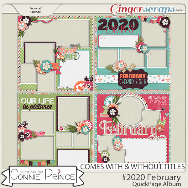 #2020 February - Quick Pages by Connie Prince