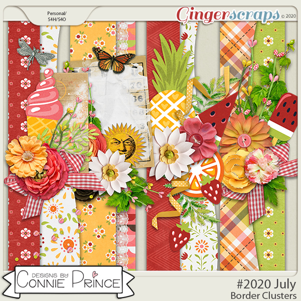 #2020 July - Border Clusters by Connie Prince