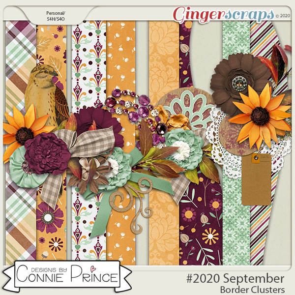 #2020 September - Border Clusters by Connie Prince