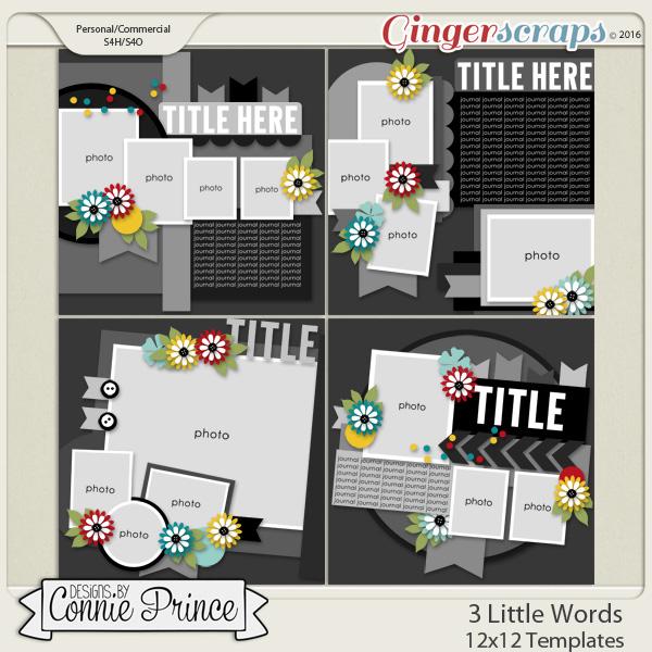 3 Little Words - 12x12 Temps (CU Ok)