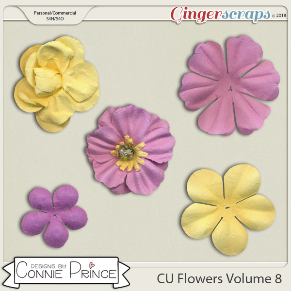 Commercial Use Flowers Volume 8 by Connie Prince.