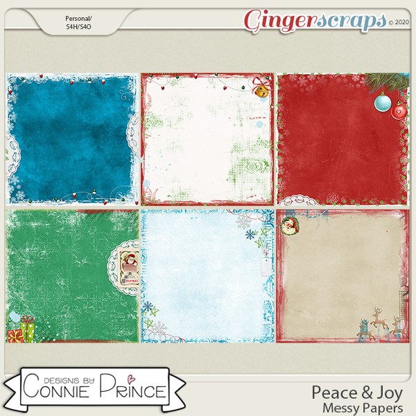 Peace & Joy - Messy Papers by Connie Prince