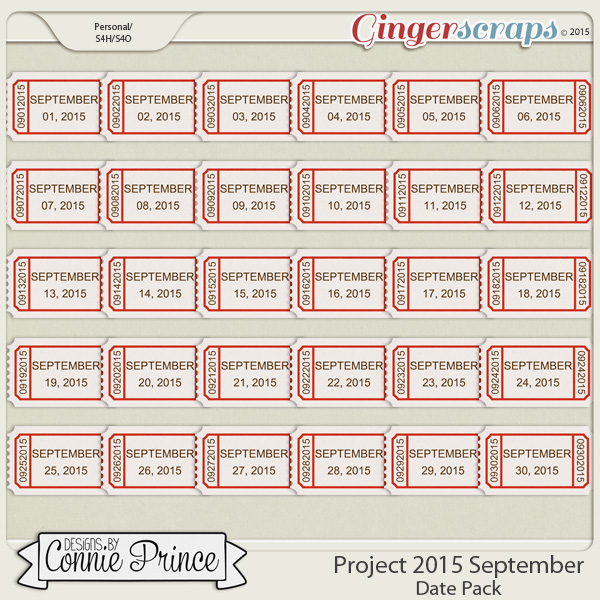 Project 2015 September - Dates