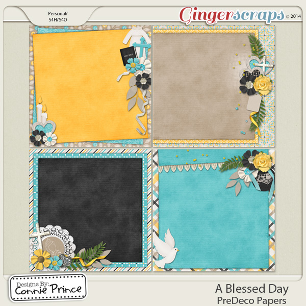 A Blessed Day - PreDeco Papers