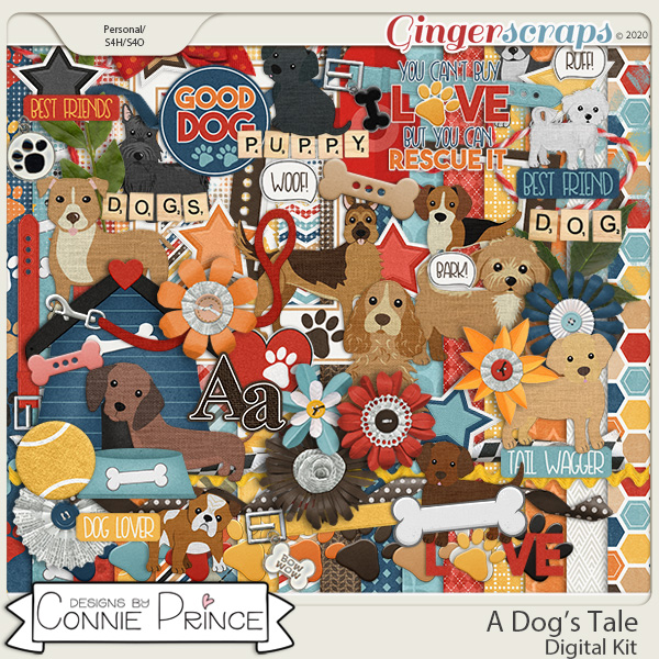 A Dog's Tale - Kit by Connie Prince
