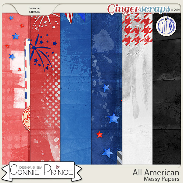 All American - Messy Papers by Connie Prince