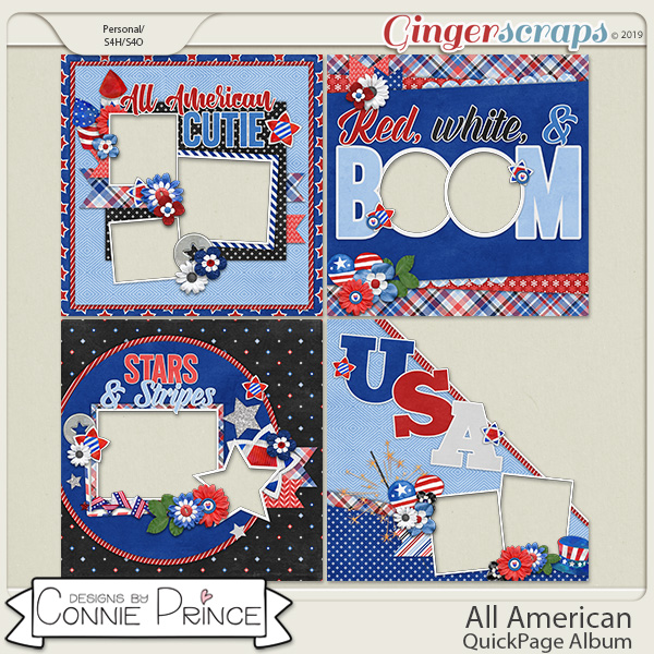 All American - QuickPages by Connie Prince