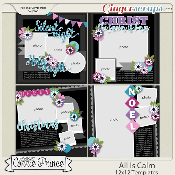 All Is Calm - 12x12 Temps (CU Ok) by Connie Prince