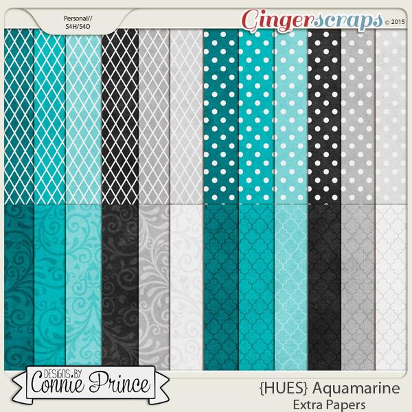 {HUES} Aquamarine - Extra Papers