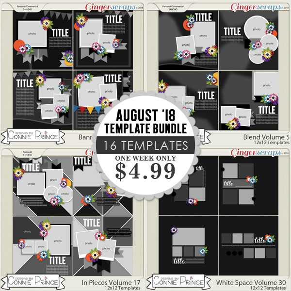 August 2018 Template Bundle by Connie Prince
