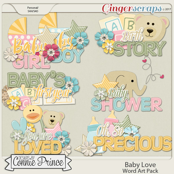 Baby Love - Word Art Pack