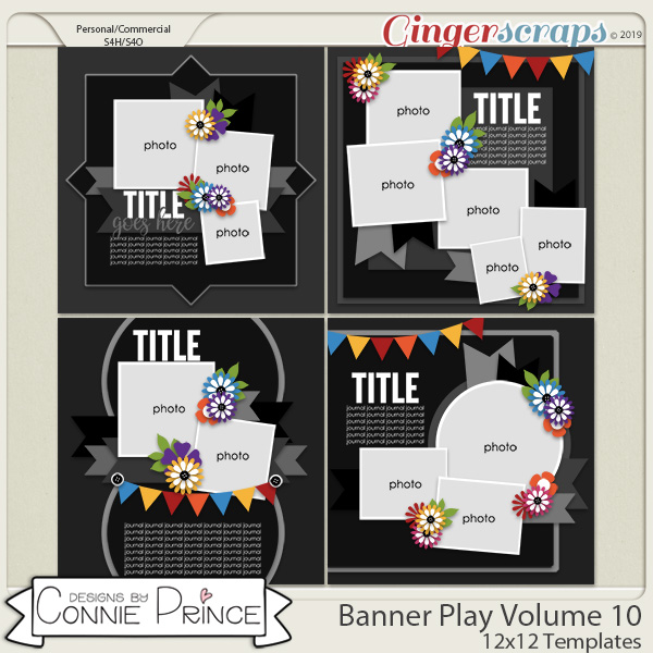 Banner Play Volume 10 - 12x12 Temps (CU Ok) by Connie Prince