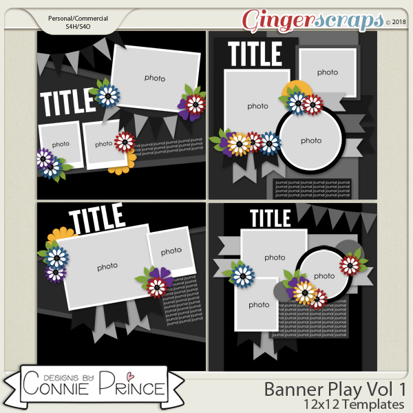 Banner Play Volume 1 - 12x12 Temps (CU Ok) by Connie Prince