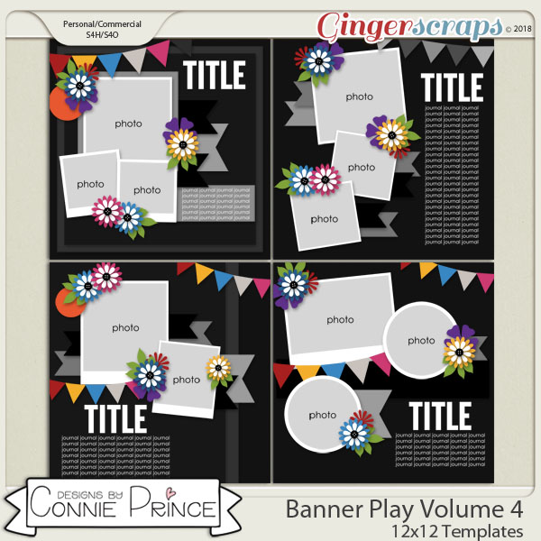 Banner Play Volume 4 - 12x12 Temps (CU Ok) by Connie Prince
