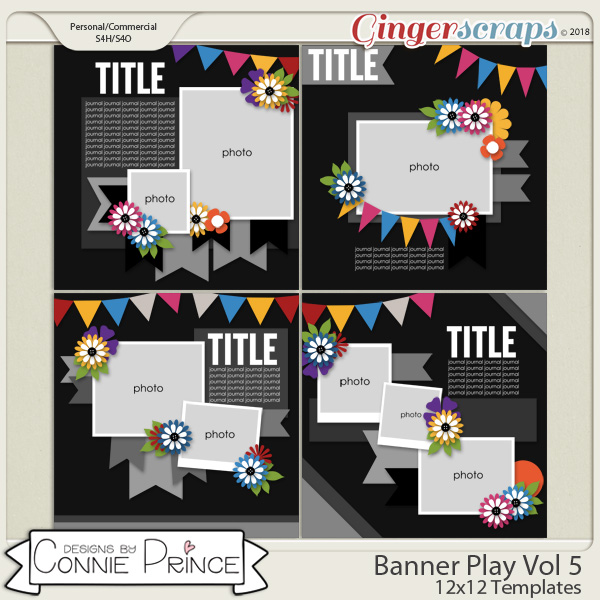 Banner Play Volume 5 - 12x12 Temps (CU Ok) by Connie Prince