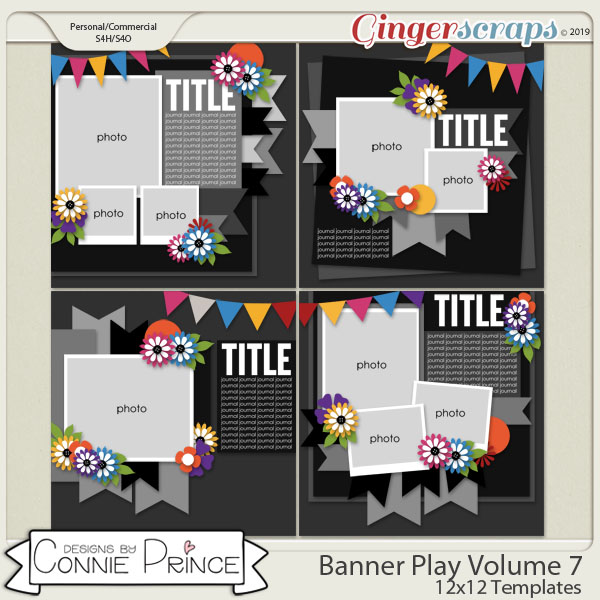 Banner Play Volume 7 - 12x12 Temps (CU Ok) by Connie Prince