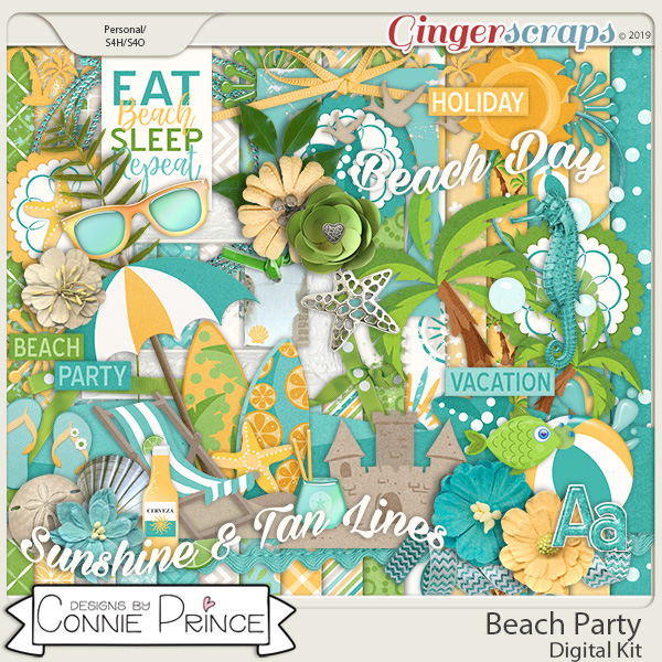 Beach Party - Kit by Connie Prince