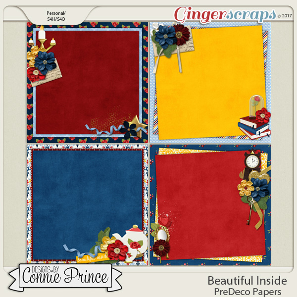 Beautiful Inside - PreDeco Papers