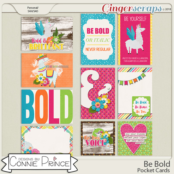 Be Bold - Pocket Cards by Connie Prince
