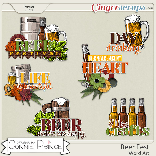 Beer Fest - Word Art Pack by Connie Prince