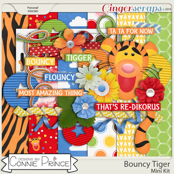 Bouncy Tiger - Mini-Kit by Connie Prince